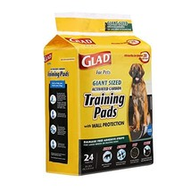 Glad for Pets Activated Carbon Puppy Training Pads, Giant Size | Charcoa... - $32.17