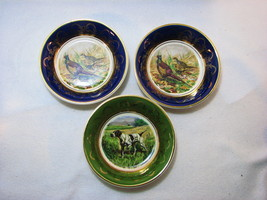 "Arklow Stoneware Ireland set of 3 Hunting 4 3/4"" Dia Snack Nut Bowl Phea... - $28.49"