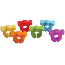 Set of 6 Bow Frog Tie Drink Wine Glass Charms Watchers Silicone Assorted... - $16.99