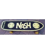 Vtg ORIGINAL NASH TUF-TOP SKATEBOARD-DOUBLE SAW BLADES-Jam in the USA-Ye... - $65.44