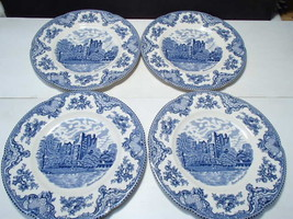 4 Johnson Bros Dinner Plates ~ Old Britain Castles - $24.95