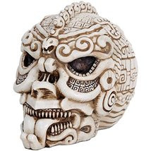 Aztec Mexica Skull Fierce Figurine Made of Polyresin - $29.70
