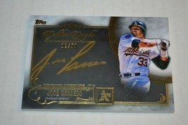 2016 Topps Five Star Jose Canseco Golden Graphs Auto 12/50 Oakland A's - $34.64