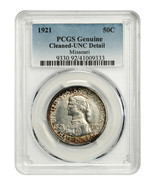 1921 Missouri 50c PCGS UNC Details (Cleaned) Scarce Issue - Scarce Issue - $426.80