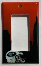 NY New York Jets Football Light Switch Power Outlet Wall Cover Plate Home decor image 2