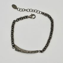 Silver Bracelet 925 Burnished Black Man Woman,Rolo ' ,by Maria Ielpo Made in image 3