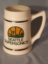 "Seattle Supersonics ceramic stein approx 5.65"" tall - $14.67"