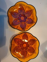 Vintage Anchor Hocking Renaissance Gold Amber Beaded Glass Bowls. Set of... - $11.30