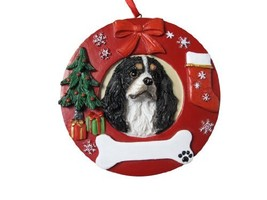 E&S Pets Tri-Color King Charles Personalized Christmas Ornament - $14.95