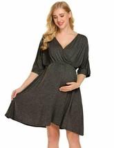 Ekouaer Delivery Gown Womens Short Sleeve Maternity Nursing Sleepwear Bl... - $38.99+