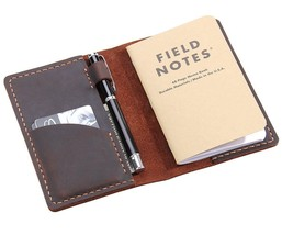 Leather Journal Cover For Field Notes Moleskine Cahier Cover Handmade Vi... - $29.01
