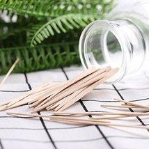 Whaline 400 Pieces Small Wax Sticks Wood Spatulas Applicator Craft Sticks for Ha image 8