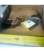 Herman Survivors Men 6 W Work Boots Big Timber II Steel Toe Wheat Leathe... - $43.56
