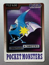 Golbat Carddass Bandai Pokemon Card Game Japanese Nintendo Very Rare F/S - $9.88