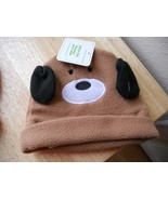 New Baby Infant Hat One Size Brown Puppy Dog Fleece cute - $3.61