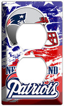 NEW ENGLAND PATRIOTS FOOTBALL TEAM US FLAG OUTLET WALL PLATE MAN CAVE RO... - $8.99