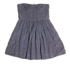 Rebecca Taylor Leather Top Strapless Skater Tube Dress Sparkle Purple sz 8 - $46.53