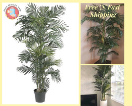 Large Artificial Golden Cane Palm Silk Tree Fake 6.5' Plant Decor Outdoo... - €117,23 EUR