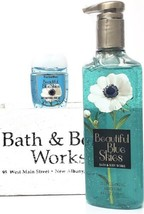 Bath and Body Works Beautiful Blue Skies Hand Soap & PocketBac Retired HTF - $20.22