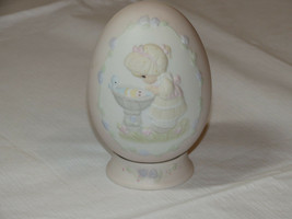 Precious Moments 529095 A Reflection of His Love egg with stand girl bir... - $21.36