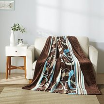 All American Collection New Super Soft Printed Throw Blanket (Queen Size... - $26.72