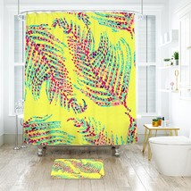 Flower Lilly Starfruit Lush 02 Shower Curtain Waterproof & Bath Mat For Bathroom - $15.30+