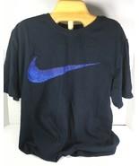 Nike Men's Navy Blue Cotton T-Shirt – Large - $22.30