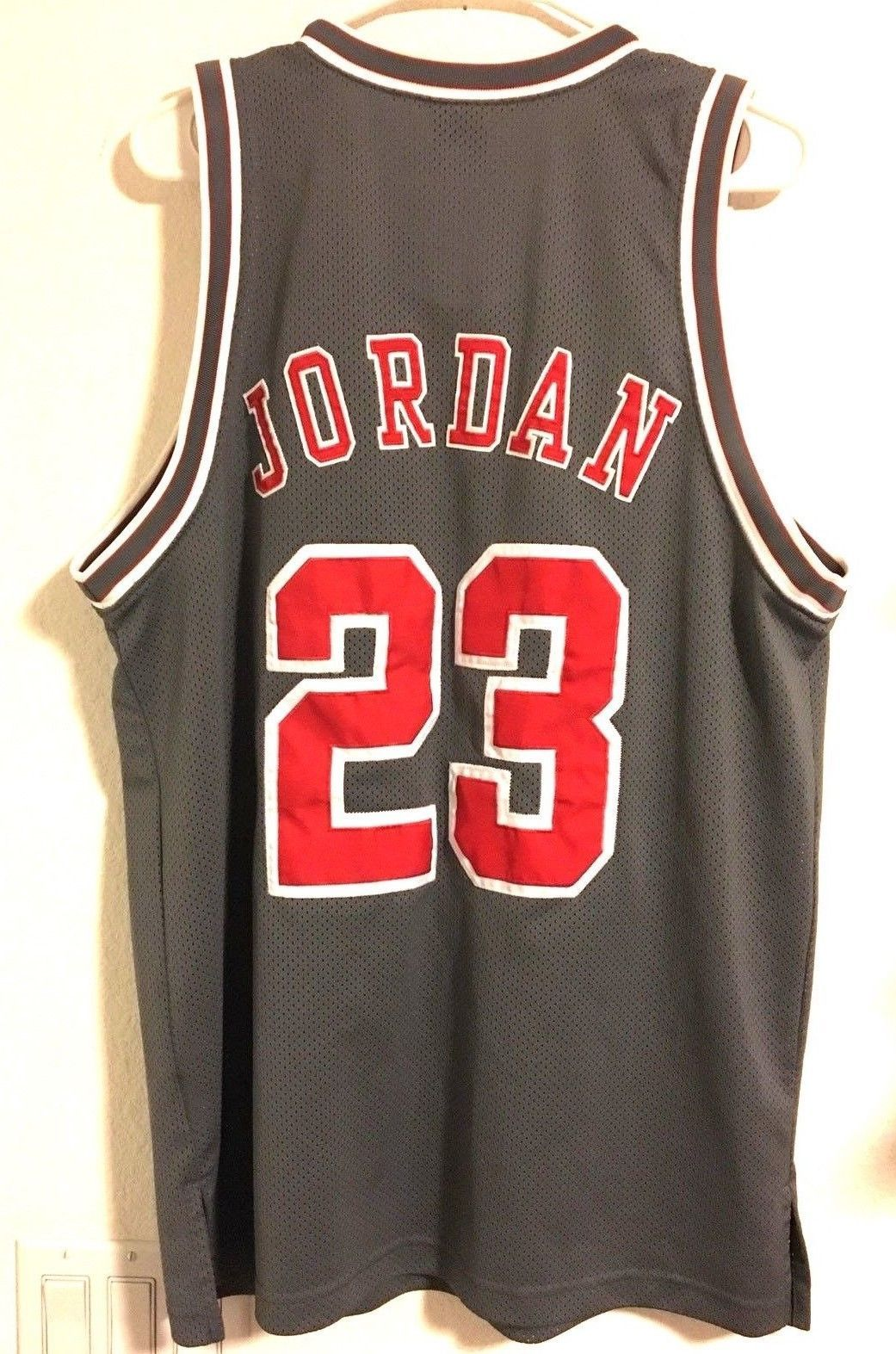 44bab21eb3c Jordan Jersey 23 Original Stitched 1990's 100% Polyester Gray Red Sz M Tank  Mesh - $178.60 · Advanced search for Air Jordan Tank Top
