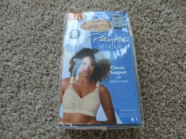 BNIP Playtex 18 Hour classic support w/ lace accents wire free bra, 34C,... - $16.82
