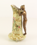 Porcelain Vase Vintage Porcelain with 100% Bronze * Free Air Priority - $149.00