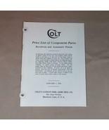 Original 1938 Colt List of Component Parts, Revolvers and Automatic Pistols - $12.19