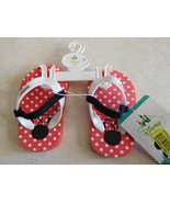 Shoes Baby DISNEY BABY Flip Flops Red White Polka Dots Sz 3 NWT - $7.49