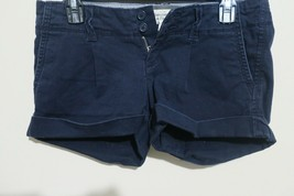 A&F Abercrombie & Fitch Women's Blue Roll Up Shorts Size 0 - $5.19