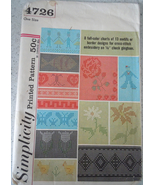 Simplicity 8 Color charts 13 Motifs or Border Designs For Cross Stitch #... - $4.99