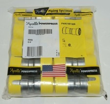 Apollo PWR7481309 Carbon Steel 3/4 Inch Gas Coupling Stop Bag of 10 image 1