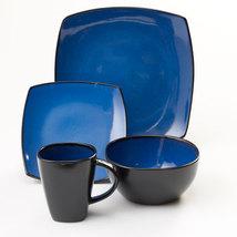 Beautiful Gibson  Soho Lounge 16 Piece Blue Dinnerware Set service for 4 - $82.99