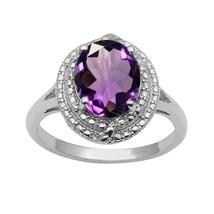 Oval Cut Amethyst Gemstone Wedding Anniversary Gift 925 Sterling Silver ... - $22.58