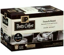 Peet's Coffee French Roast Dark roast coffee K-Cup Coffee Pods 60 Count image 2