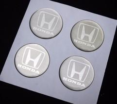 4 X 45 mm HONDA Resin Wheel Center Cap Logo Badge Decal Emblem Sticker - $14.99