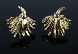 Vintage Gold Tone CORO Firework Fashion Signed Clip On Costume Jewelry E... - $9.41