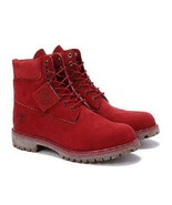 "TIMBERLAND A1149 MEN'S 6"" PREMIUM RED WATERPROOF LEATHER BOOTS  - £120.90 GBP+"