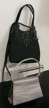 Sasha New York, Vintage Satin Evening Purses in Silver or Black QTY 2 - $14.99+