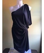 M M Couture by Miss Me Women's One Shoulder Black Dress Size: M - $32.00
