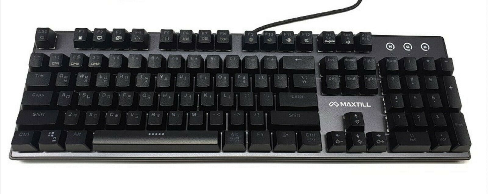 Maxtill G610KV2 Korean English Gaming Keyboard Outemu Switches (Blue Switch)
