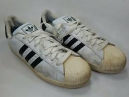Adidas Superstar II di Taglia 13 M (D) Eu 48 Uomo Casual Scarpe da Tennis Bianco