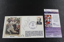 Kirby Puckett Signed Cachet 1987 Auto 10 Consecutive hits FDC JSA Cert T... - $232.00