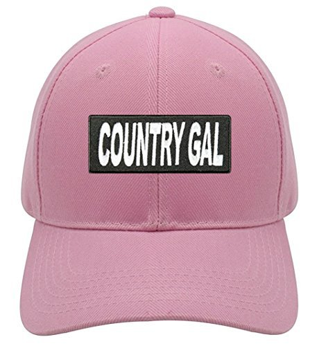 Country Gal Hat - Pink Adjustable Womens - Southern Girl Cowgirl Cap