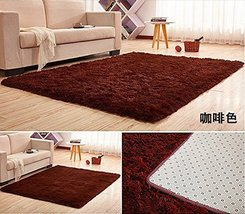 HUAHOO Super Soft Indoor Modern Shag Area Silky Rugs Dining Room Living ... - $15.99