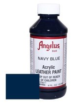 Angelus Acrylic Leather Paint-4oz.-Navy - $3.97