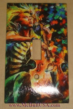 Woman Playing Cello Artists Light Switch Duplex Outlet Cover Plate home decor
